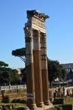 Kolonner i forntida Rome Royaltyfria Bilder