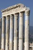 Kolonner i Laodikya den forntida staden i Denizli, Turkiet Arkivfoto