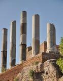 Kolonner i Rome, Italien Arkivbilder
