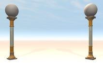 kolonner inramning etapp Royaltyfria Bilder