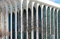 Kolonner och fasad av Minneapolis kontorsbyggnad Arkivbilder