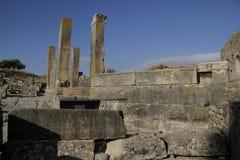 Kolonner och stenar av Dugga, Tunisien Royaltyfria Foton
