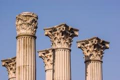 Kolonner på Roman Temple, Cordoba Royaltyfri Fotografi