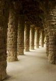 Kolonner Parc Guell Barcelona, Spanien Royaltyfri Bild