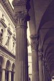 Kolonner Universitet av bolognaen italy Fotografering för Bildbyråer