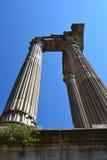 Kolonnerna av Roman Capital Remains Royaltyfri Bild