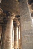 kolonnesna inom tempelet Arkivfoto
