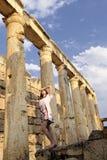kolonnhistoriekvinnor Arkivbild