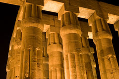kolonnluxor tempel Royaltyfri Fotografi