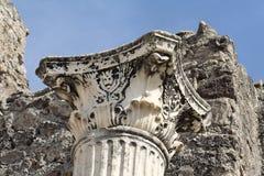 kolonnmarmor pompeii Arkivbilder