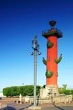 kolonnpetersburg rostral saint Fotografering för Bildbyråer