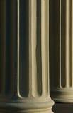 kolonnsolnedgång två fotografering för bildbyråer