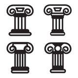 Kolonnsymbol i fyra variationer Vektor EPS 10 Arkivbilder