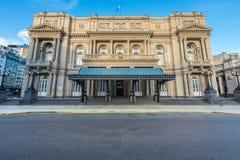 Kolonteater i Buenos Aires, Argentina Arkivfoton