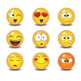 kolorów łatwych emoticons ilustracyjny setu wektor royalty ilustracja