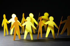 Kolorów żółtych Papierowi mężczyzna Zdjęcie Royalty Free