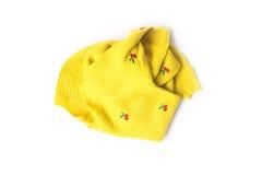 Kolorów żółtych ubrań kolor czekać na czystego myjącego Obraz Stock