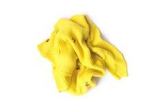Kolorów żółtych ubrań kolor czekać na czystego myjącego Zdjęcie Royalty Free