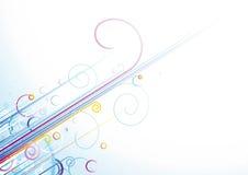 kolorów abstrakcjonistyczni prążki Fotografia Royalty Free