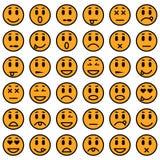 kolorów łatwych emoticons ilustracyjny setu wektor Obrazy Stock