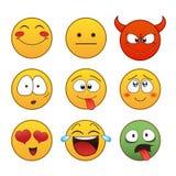 kolorów łatwych emoticons ilustracyjny setu wektor Zdjęcia Royalty Free