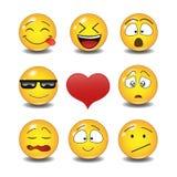 kolorów łatwych emoticons ilustracyjny setu wektor Fotografia Stock