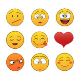 kolorów łatwych emoticons ilustracyjny setu wektor Fotografia Royalty Free