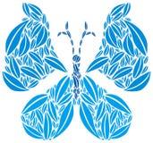 kolorów błękitny motyli liść zrobili Fotografia Royalty Free