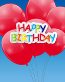 Kolorów balonów tła glansowany wektor Obrazy Royalty Free