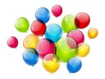 Kolorów balony odizolowywający na bielu royalty ilustracja