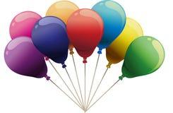 8 kolorów bawją się ballons Zdjęcia Stock