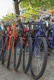 Kolorów bicykle w Amsterdam Zdjęcia Royalty Free