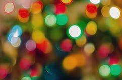 Kolorów bożonarodzeniowe światła tło Obraz Royalty Free