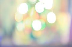 Kolorów bożonarodzeniowe światła tło Obrazy Stock