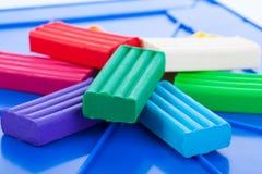 Kolorów children plastelina Fotografia Stock
