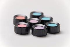Kolorów cienie - krótka ostrości głębia, błękit, purpura, fiołek, czerwień, cya Fotografia Stock