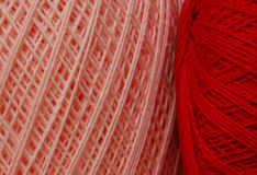 kolorów crochet nici valentines Fotografia Stock