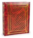 Kolorów czerwoni albumy fotograficzni na wite backround Obrazy Royalty Free