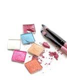 Kolorów dekoracyjni kosmetyki, odizolowywający na bielu Obraz Stock