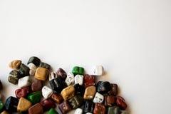 Kolorów dragees na białym tle zdjęcie stock