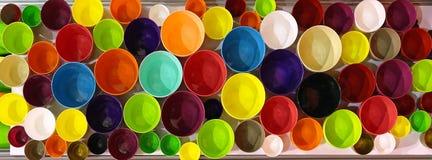 Kolorów garnki Zdjęcie Royalty Free