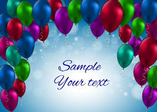 Kolorów Glansowanych balonów Karciana Wektorowa ilustracja Fotografia Royalty Free