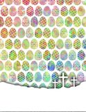 Kolorów jajka z krzyżami Fotografia Royalty Free