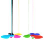 Kolorów kleksy Zdjęcia Stock