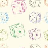 Kolorów kostka do gry bezszwowa tekstura Obrazy Royalty Free