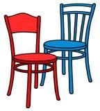 Kolorów krzesła ilustracja wektor