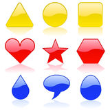 kolorów kształty Obraz Royalty Free