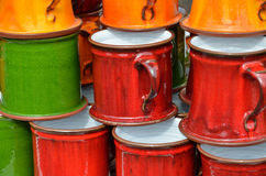 Kolorów kubki Zdjęcie Royalty Free
