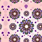kolorów kwiatów ilustraci wzoru wektor Zdjęcia Stock