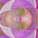 Kolorów lilas ultrafioletowego szklanego kwiatu skutka kwarcowy witraż, round mozaiki płytki wzór Obraz Royalty Free
